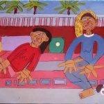 Friends on the Verandah Painting Zion LEvy Stewart 2016