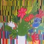 Orange Green Still LIfe Painting Zion Levy Stewart 2016