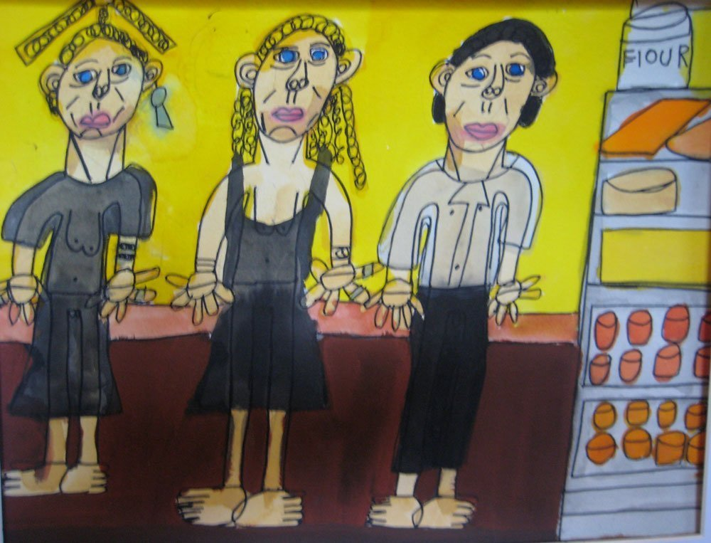 Bangalow Cafe Zion Levy Stewart Painting
