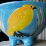 Yellow Bird Bowl Zion Levy Stewart Ceramic Art
