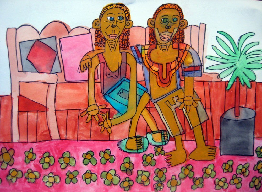 Lindi and Gilli Zion Levy Stewart Painting