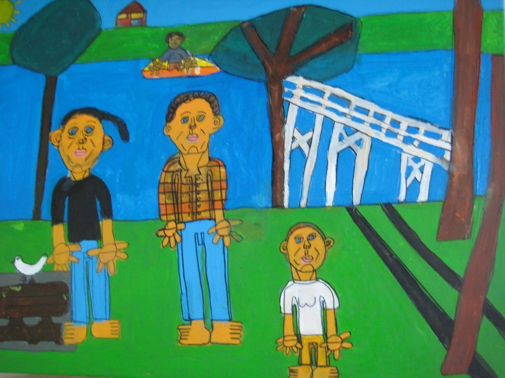 Matt and his family Zion Levy Stewart art