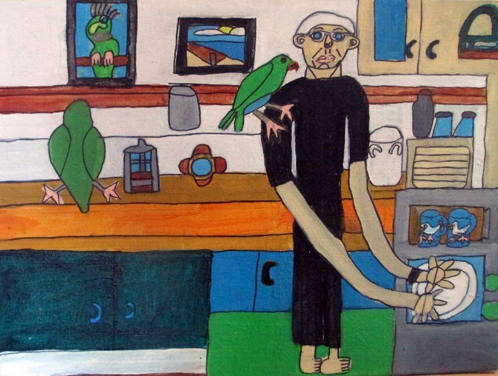 NOel Hart and his Parrots Zion Art