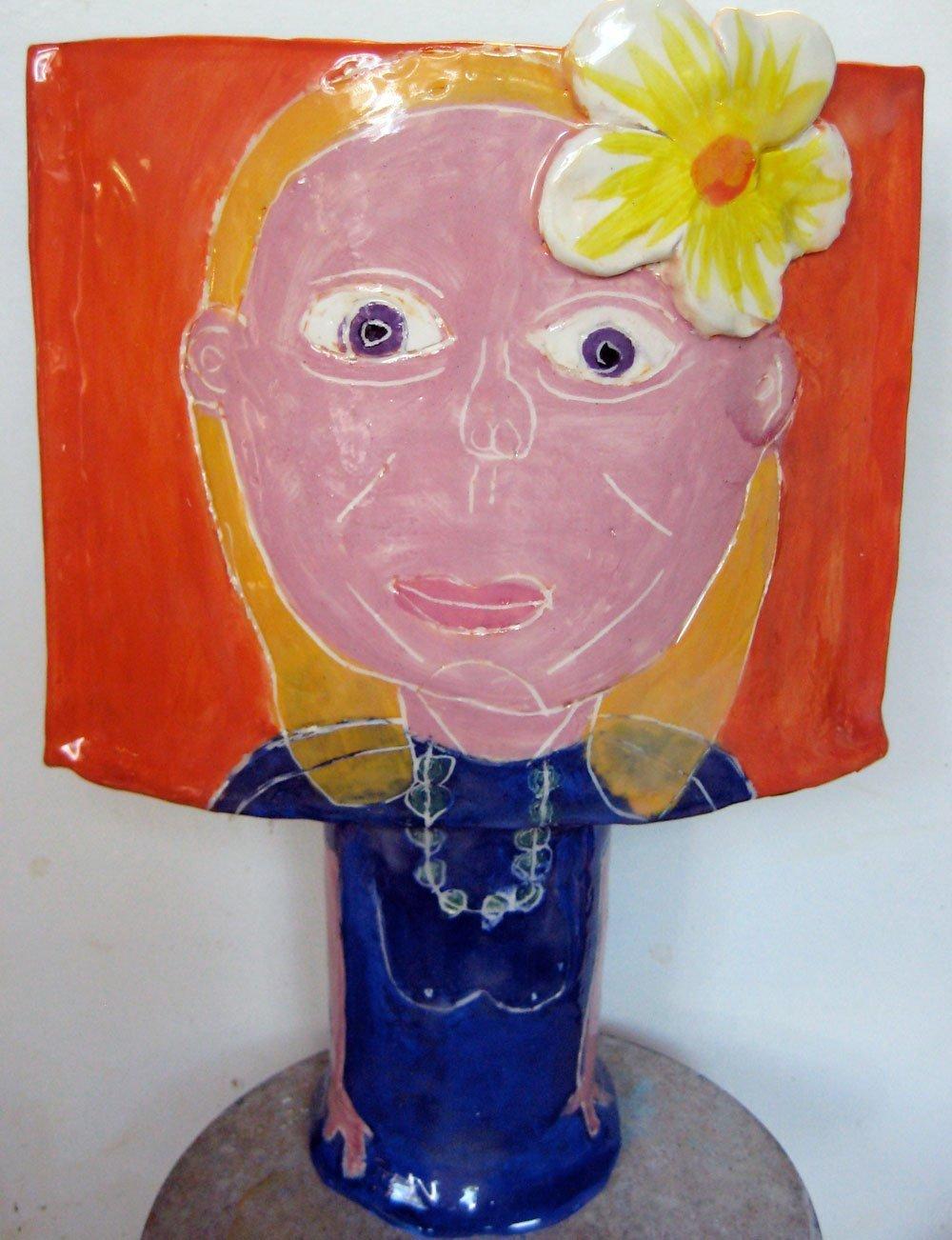 Portrait Pot Debbie Zion Levy Stewart Ceramic Art