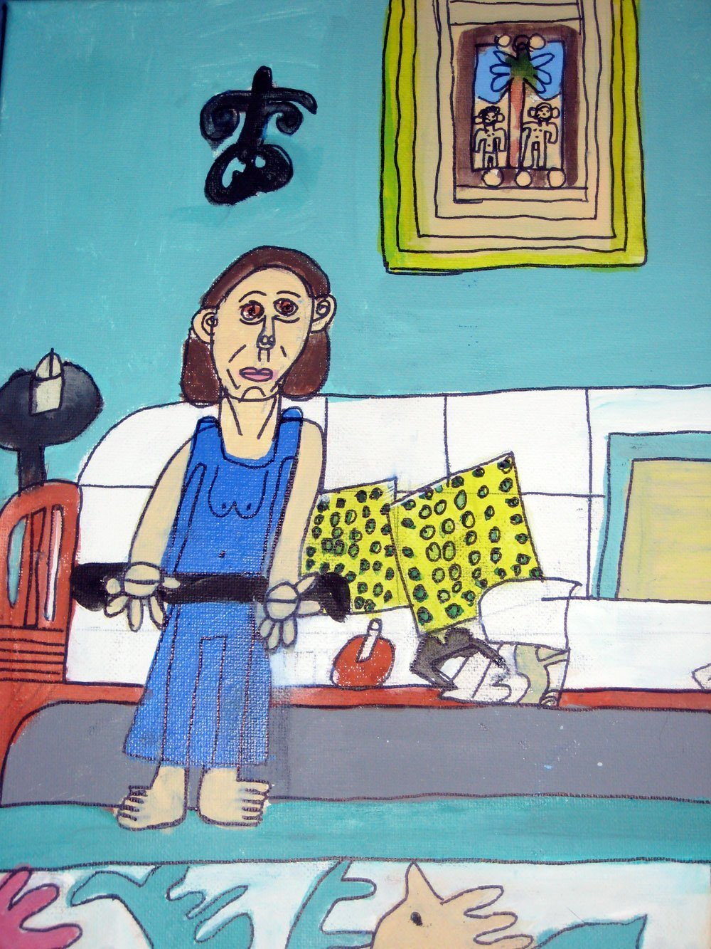 Seeta on the Couch Zion Levy Stewart painting