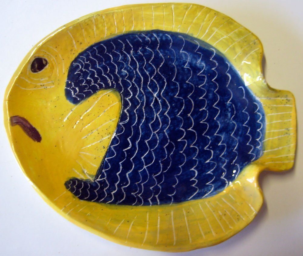 Dory Fish Plate Zion Levy Stewart Ceramic Art