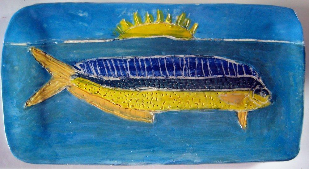 Fish Plate Zion Levy Stewart Ceramic Art
