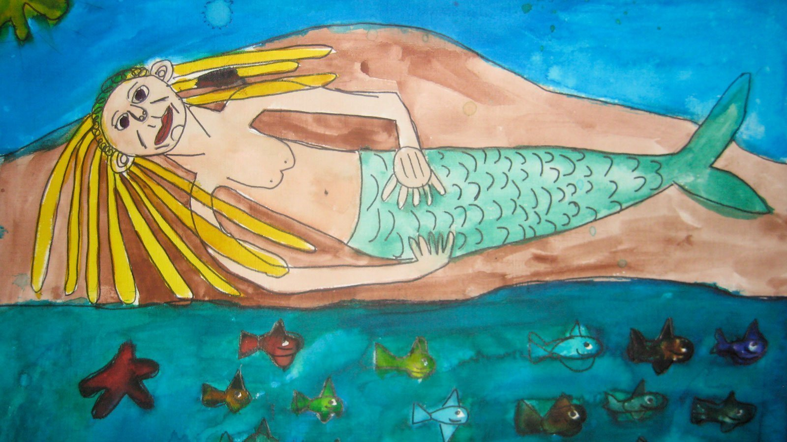 mermaid painting zion levy stewart