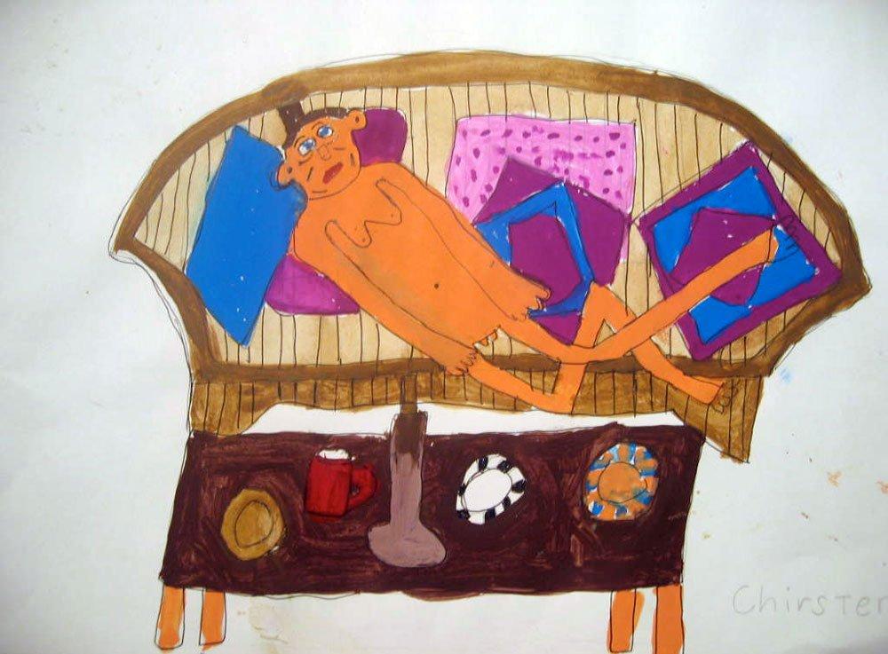 mum on the couch zion levy stewart art