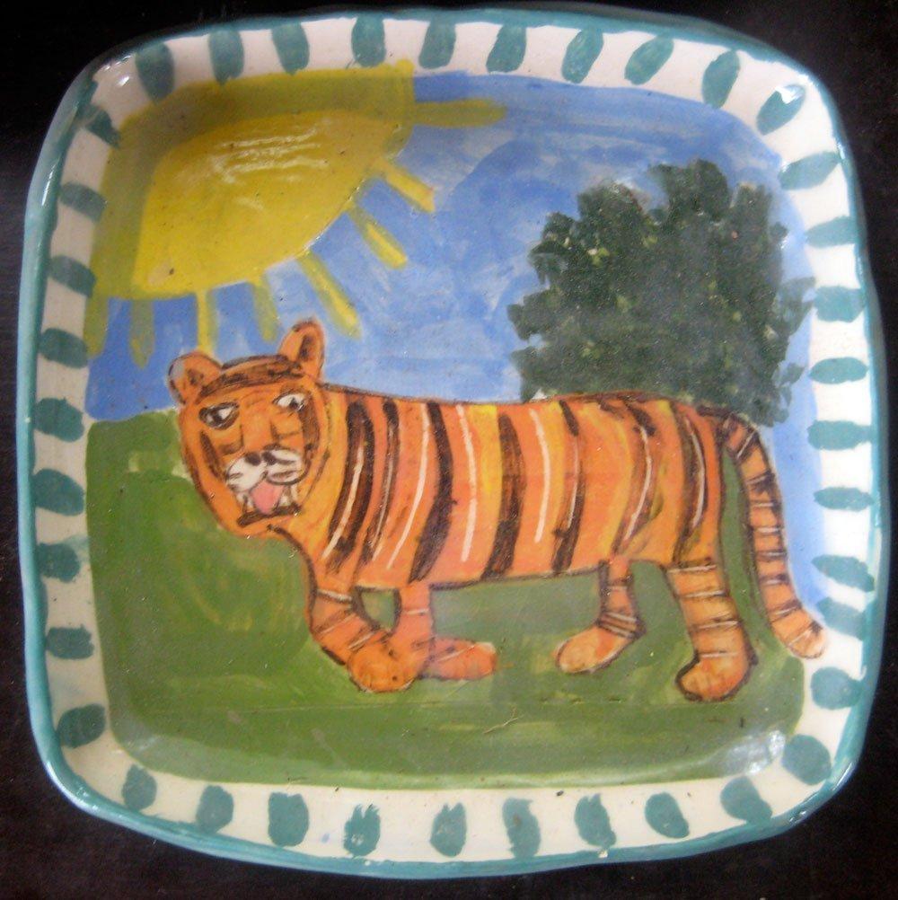 tiger ceramic plate Zion Levy Stewart
