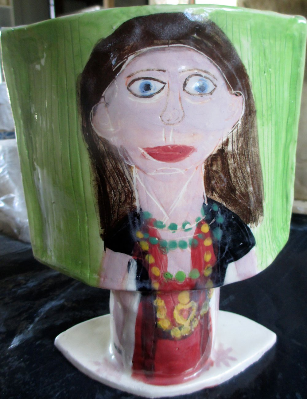 ceramic portrait pot zion levy