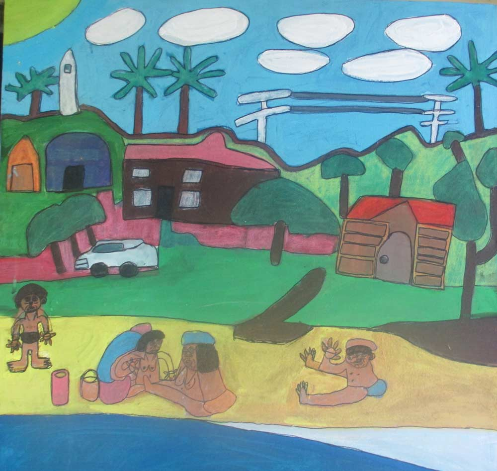 Wategos a Painting by Zion Levy Stewart an artist from Mullumbimby Australia