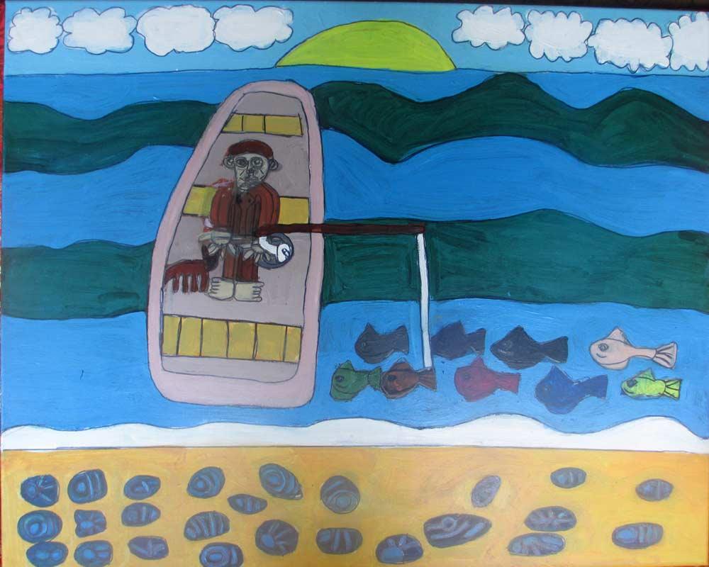 Gone Fishing Zionart Art Studio Mullumbimby Australia