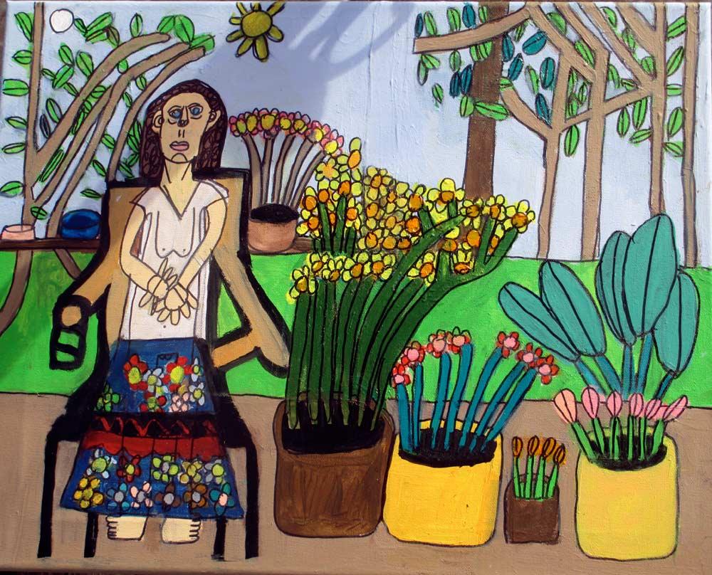 Lorettas Flowers Zion Levy Stewart Art Studio Mullumbimby Australia