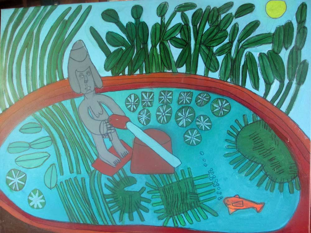 Sacred Pool a Painting by Zion Levy Stewart an artist from Mullumbimby Australia