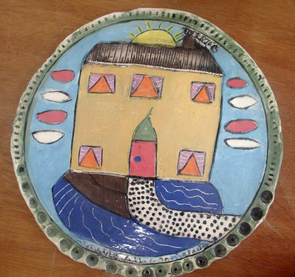 House Plate Zionart Ceramic studio Mullumbimby Australia
