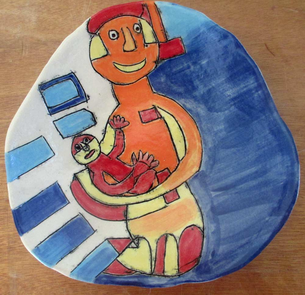 Mother and Child Bowl a Ceramic piece by Zion Levy Stewart an artist from Mullumbimby Australia