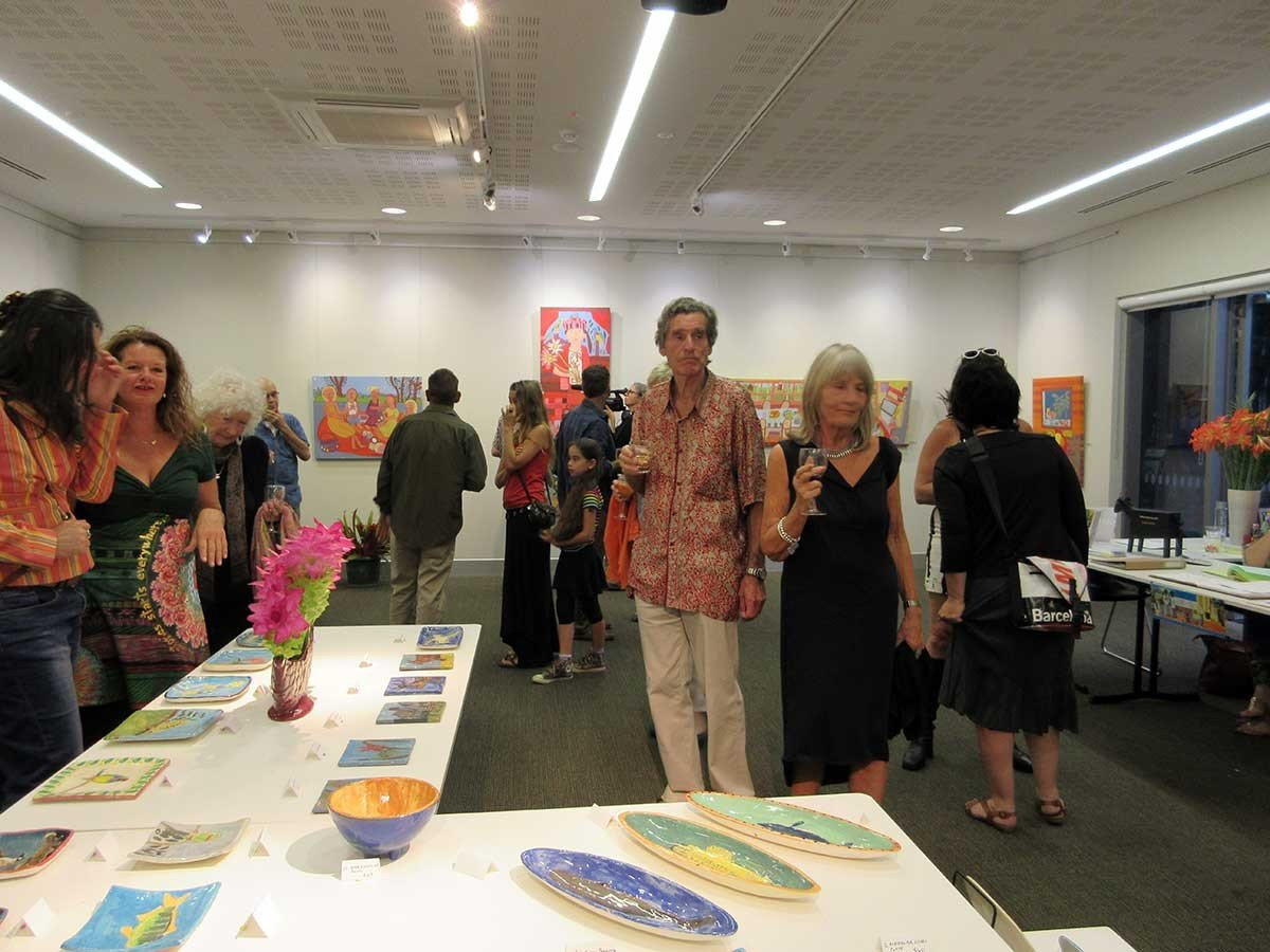 Zion Art Exhibition Lone goat Gallery Byron Bay Australia