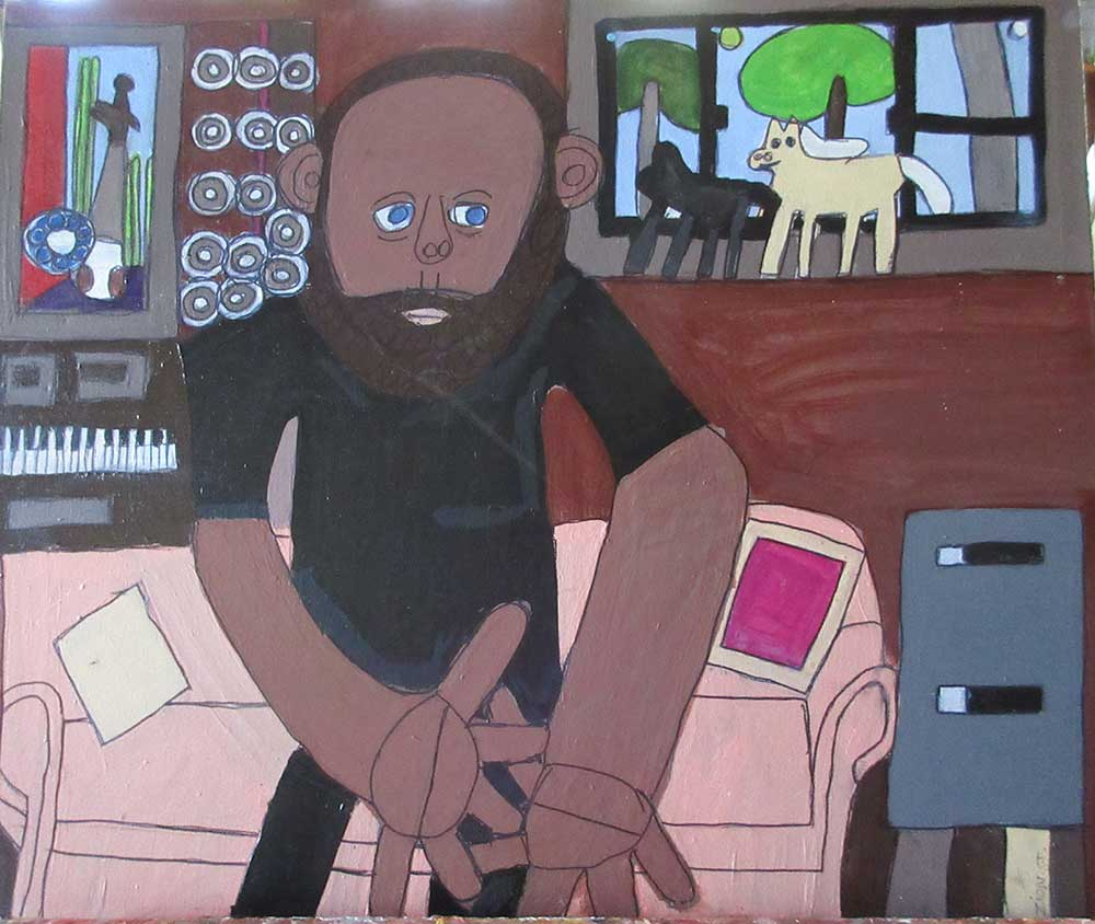 Zion Levy Stewart Painting Self Portrait