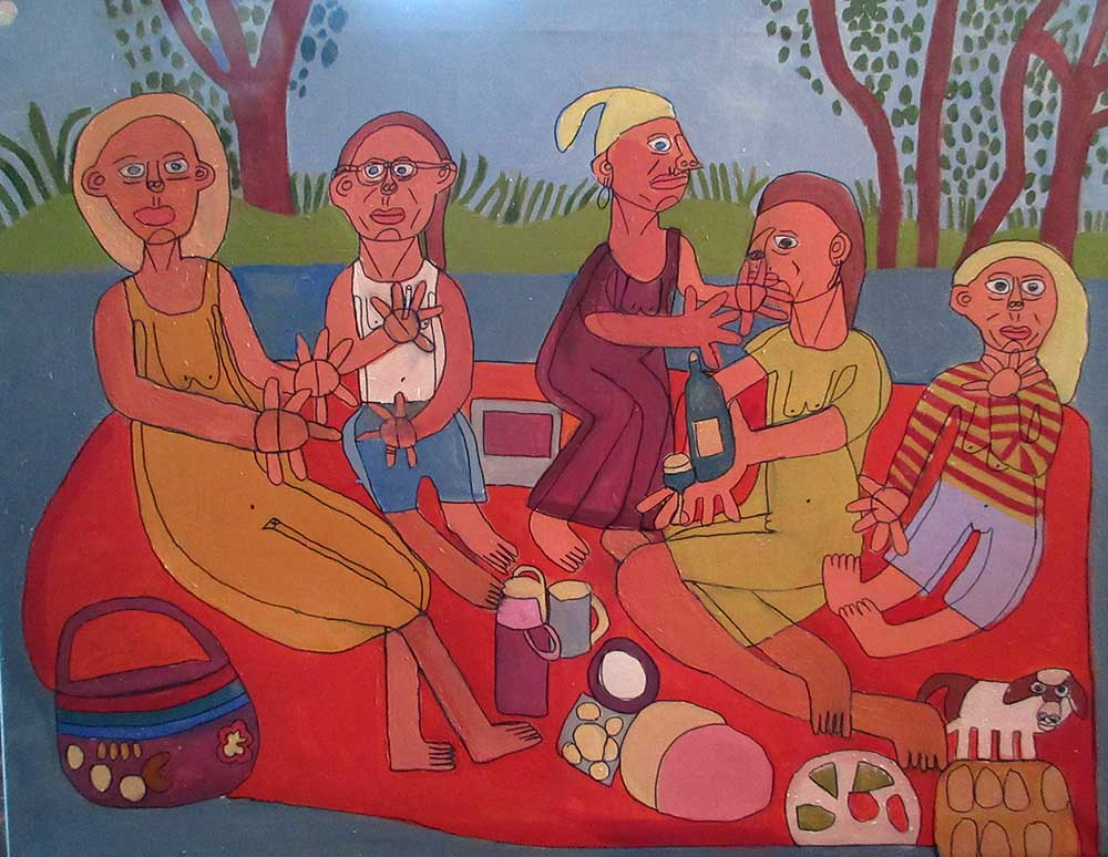 Zion Levy Stewart Painting The Picnic