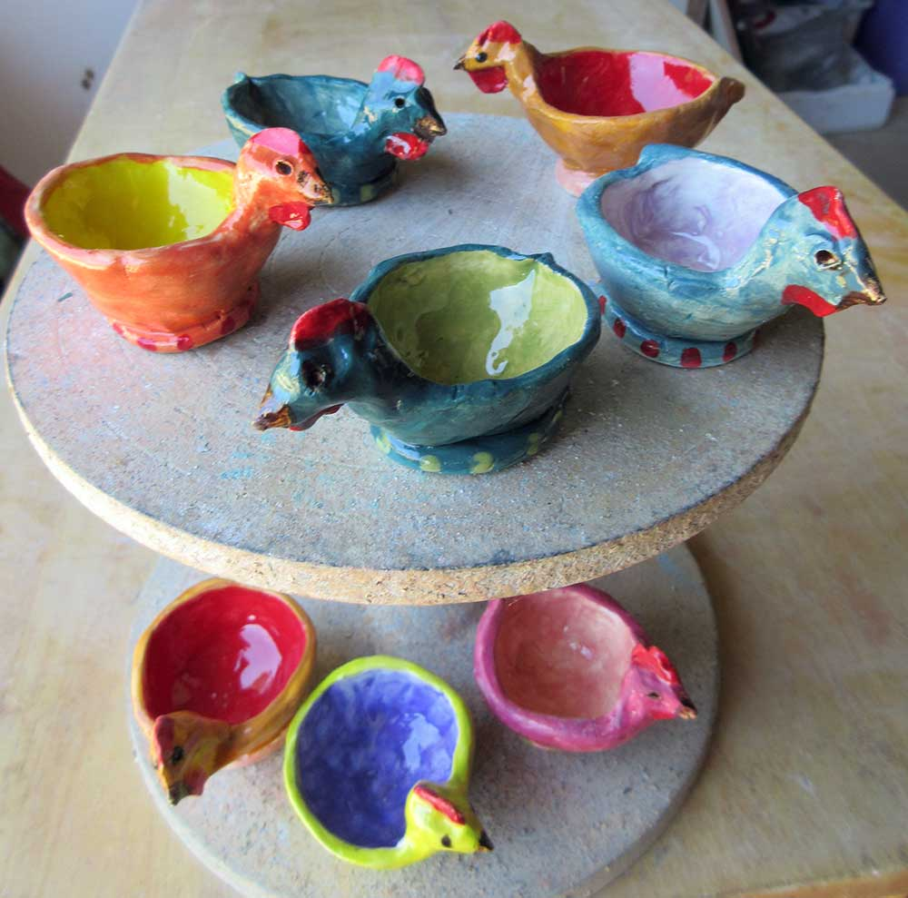 Egg Cups Ceramic Art by Zion Levy Stewart