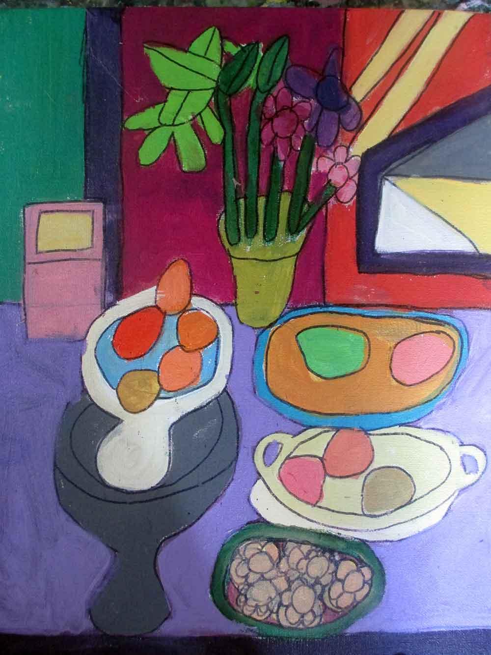 Purple Still Life Zion Levy Stewart zionart