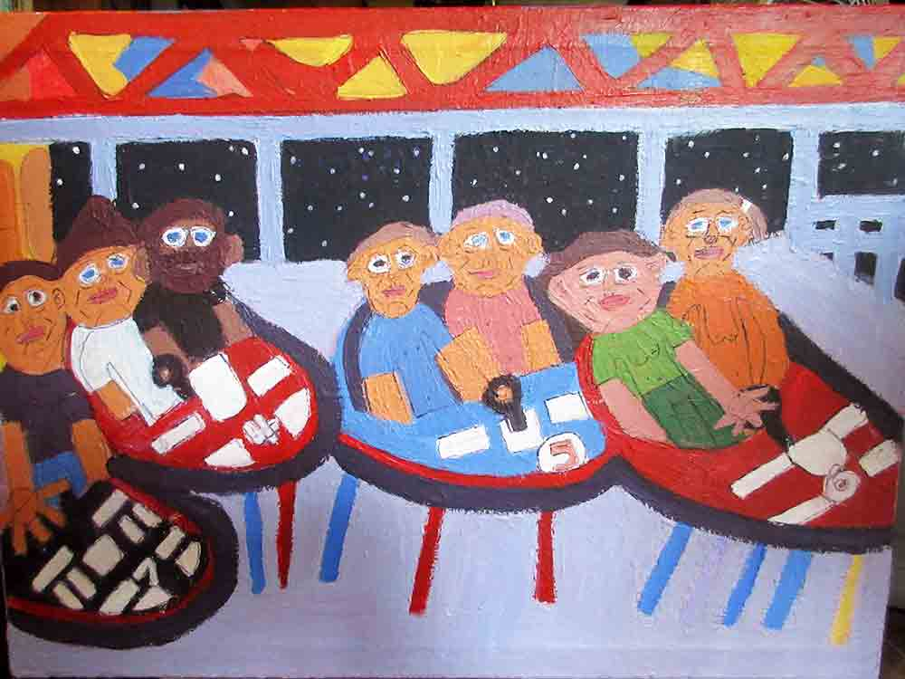 Dodgems Painting Zion Levy Stewart 2016