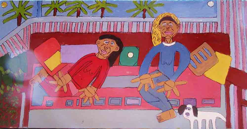 Friends on the Verandah Painting Zion LEvy Stewart 2016