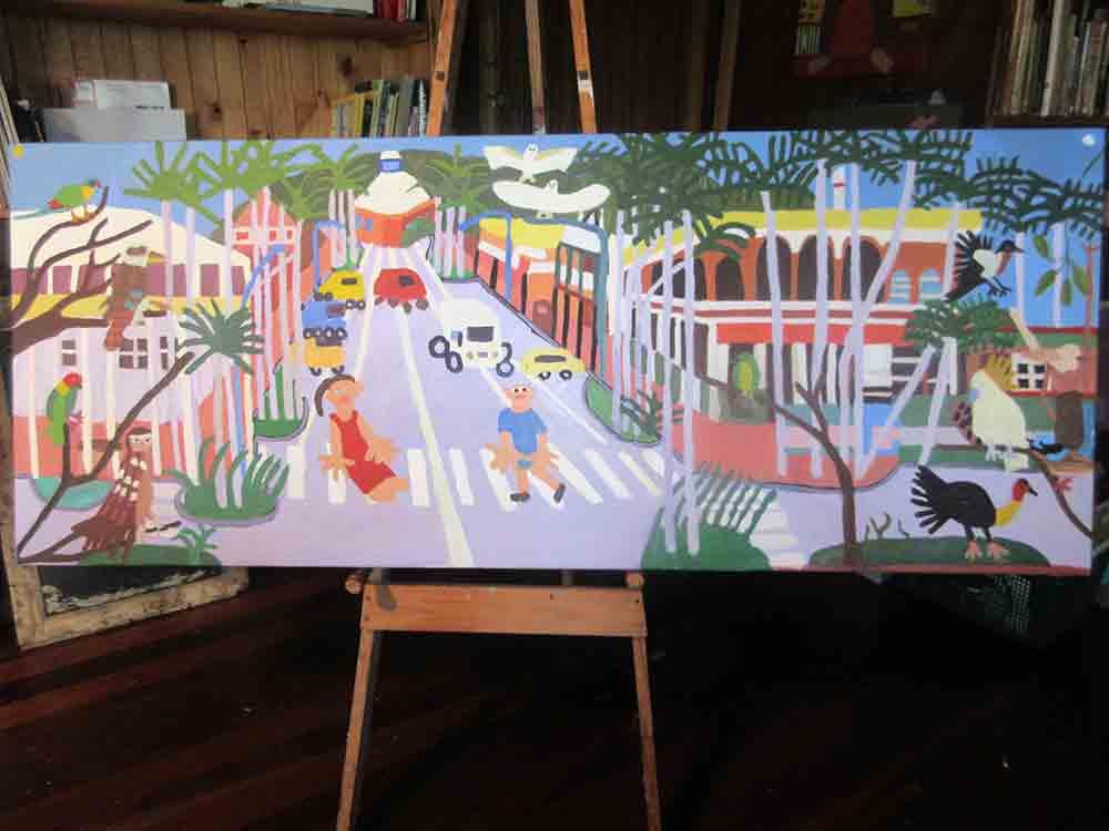 Zion Levy Stewart Mullumbimby Painting 2016
