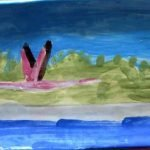 Flamingo Plate functional ceramic art Zion Levy Stewart Paradise Mullumbimby
