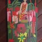 Garden Picnic Painting Acrylic on Canvas Zion Levy Stewart.