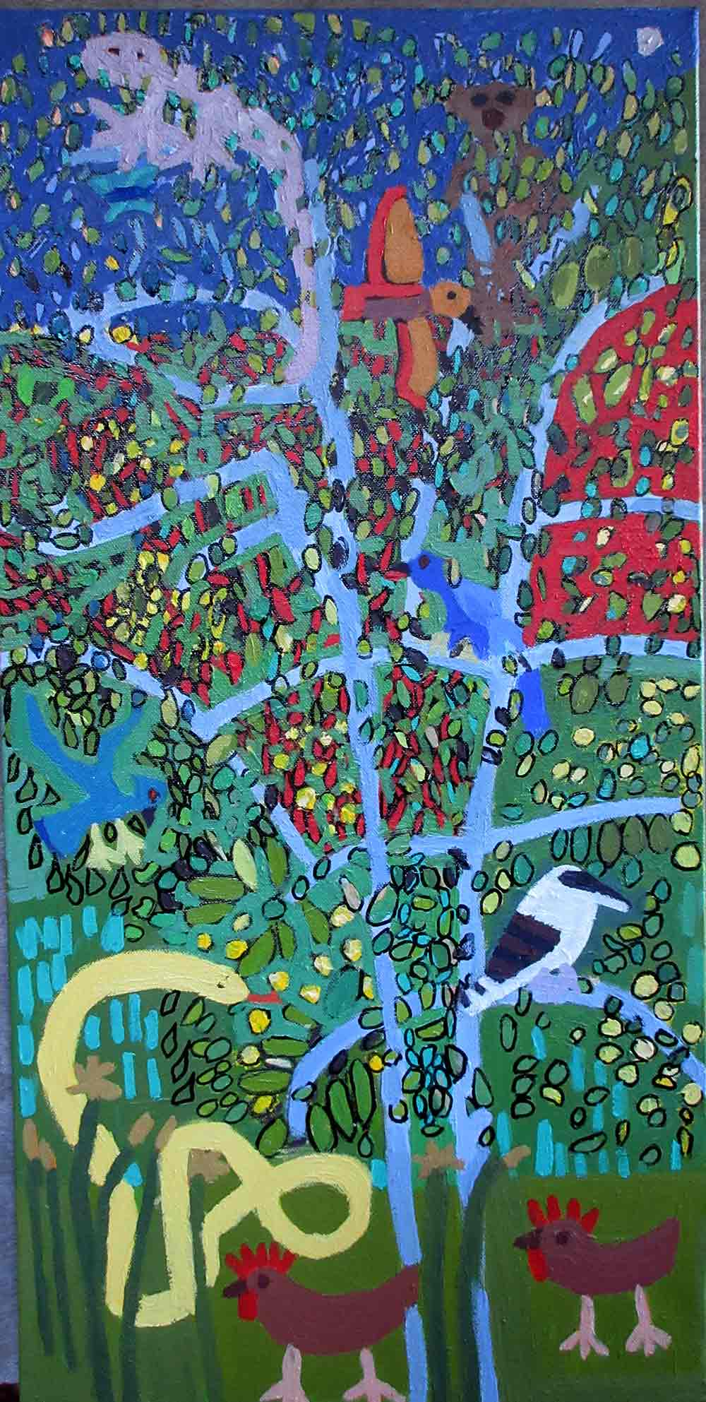 Nature a painting by Zion Levy Stewart Paradise Mullumbimby