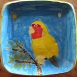 Yellow Parrot Ceramic Plate Zion Levy STewart Paradise Mullumbimby