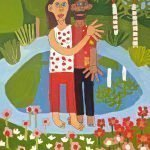 Mother Love Painting Acrylic on Canvas Zion Levy Stewart Paradise Mullumbimby