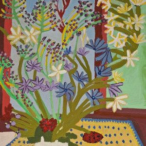 Flowers and Fruit Acrylic on Canvas Zion Levy Stewart Mullumbimby