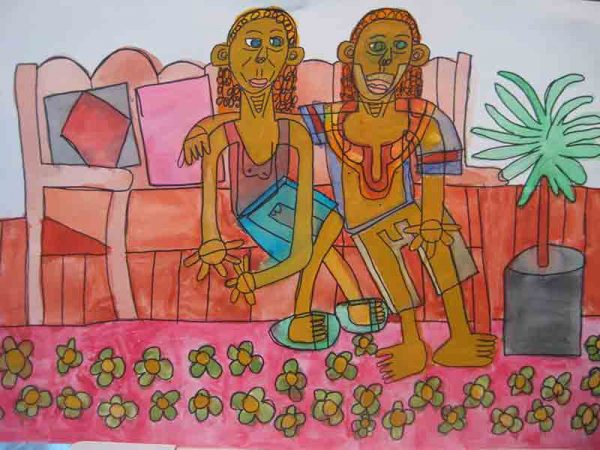 Lindi and Gilli Greeting Card Zion Levy Stewart Artist