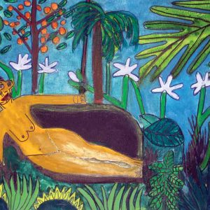 After Rousseau Greeting Card Zion Levy Stewart Artist Mullumbimby