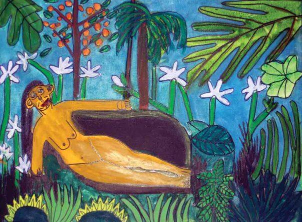 After Rousseau Greeting Card Zion Levy Stewart Artist Mullumbimby