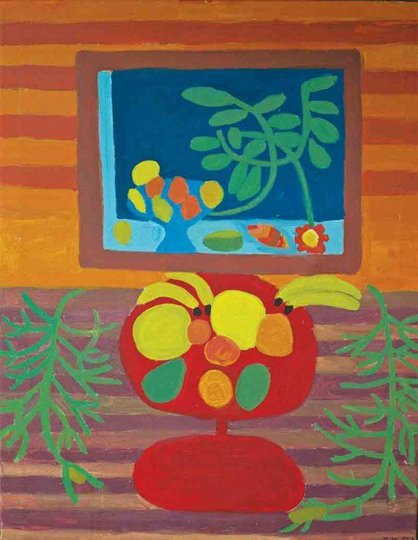 Fruit Still Life Greeting Card Zion Levy Stewart Artist