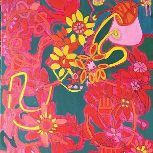 Red Flowers Greeting Cards Zion Levy Stewart Artist Mullumbimby