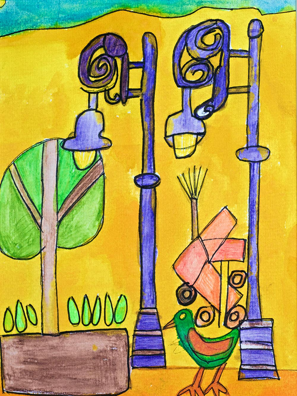Shop for Watercolours Mexican Streetlights
