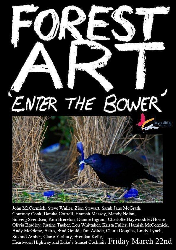 Forest Art Show Local Artists fundraiser Beyond Blue Zion Stewart Levy contributing artist