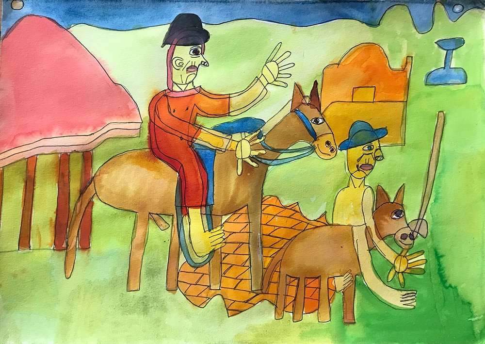 Don Quixote Watercolour Zion Levy Stewart