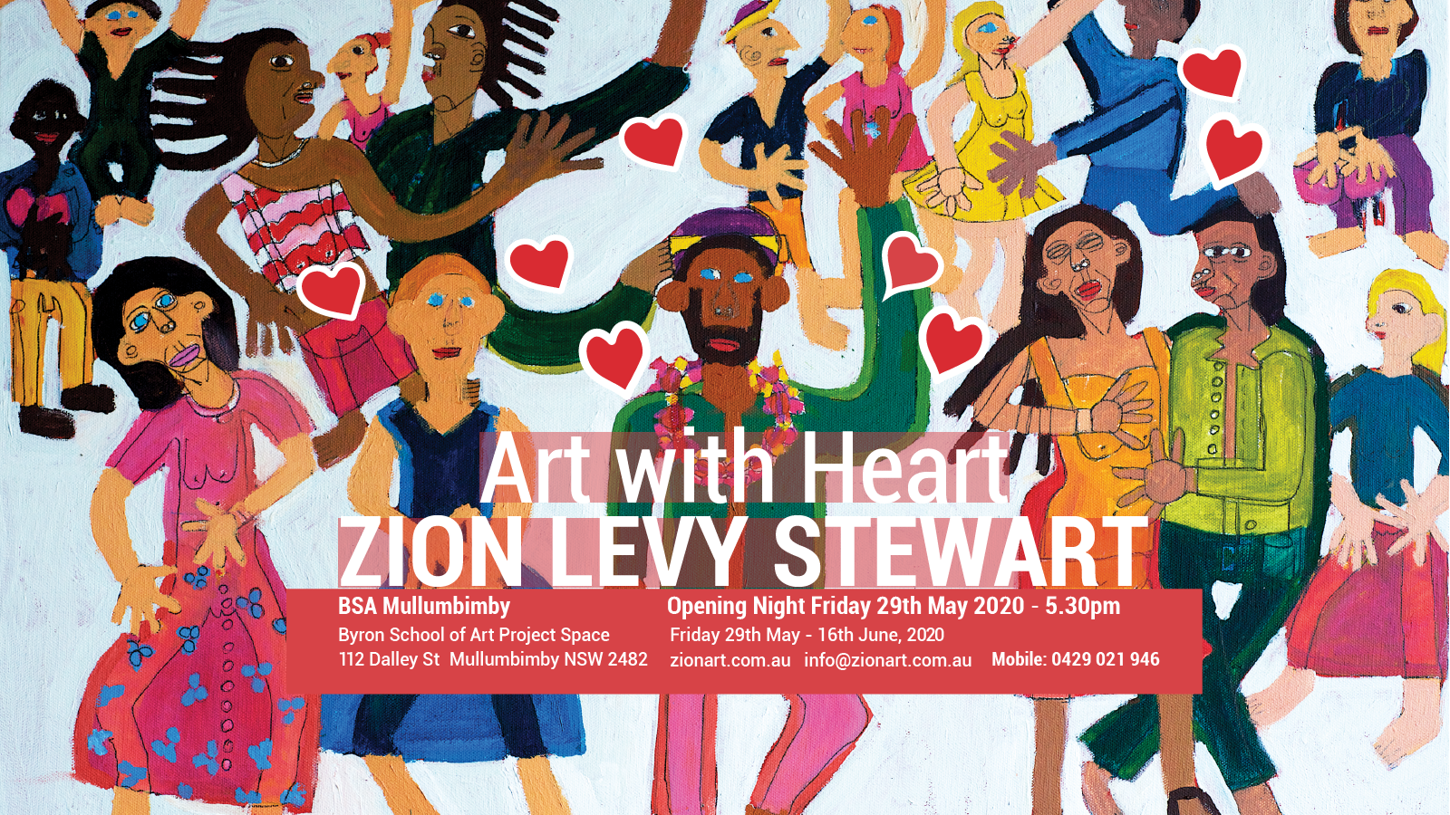 Art with Heart Exhibition Zion Levy STewart May 2020