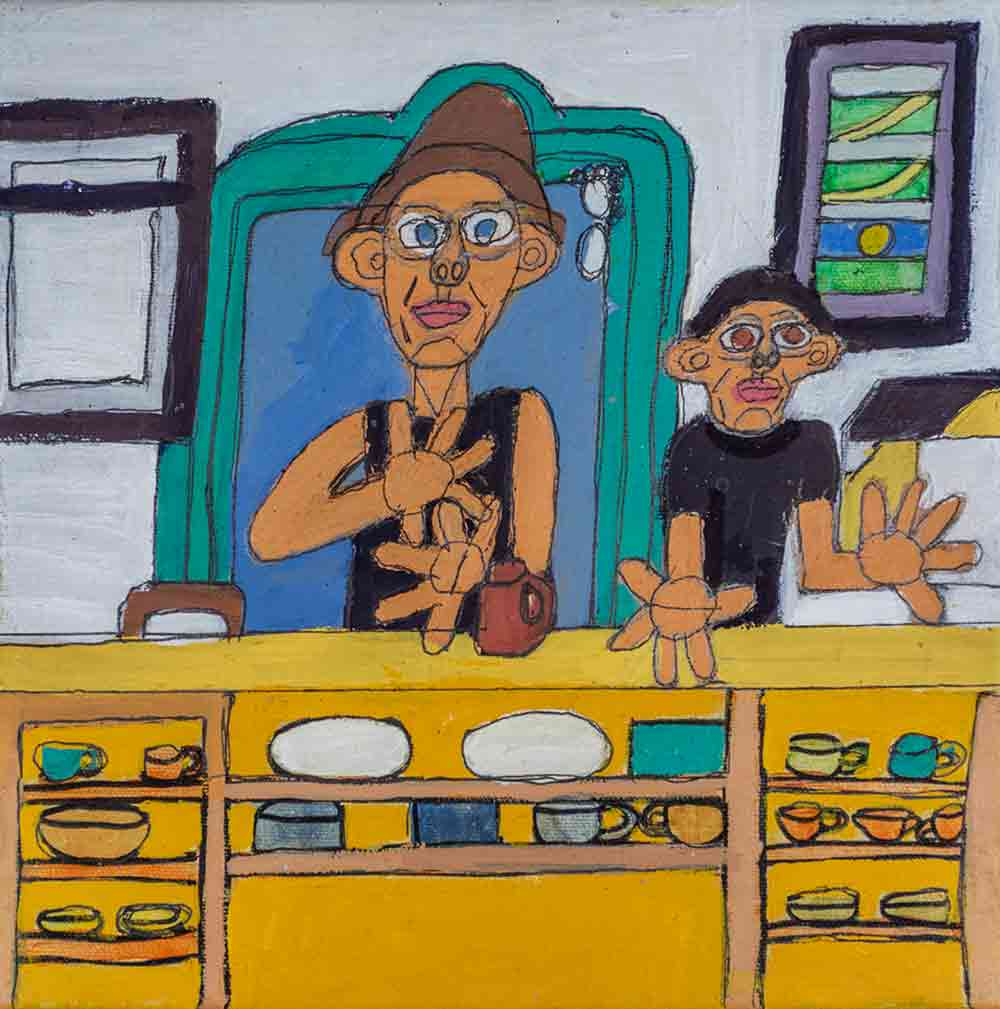 Cafe Acrylic on Canvas Zion Levy Stewart
