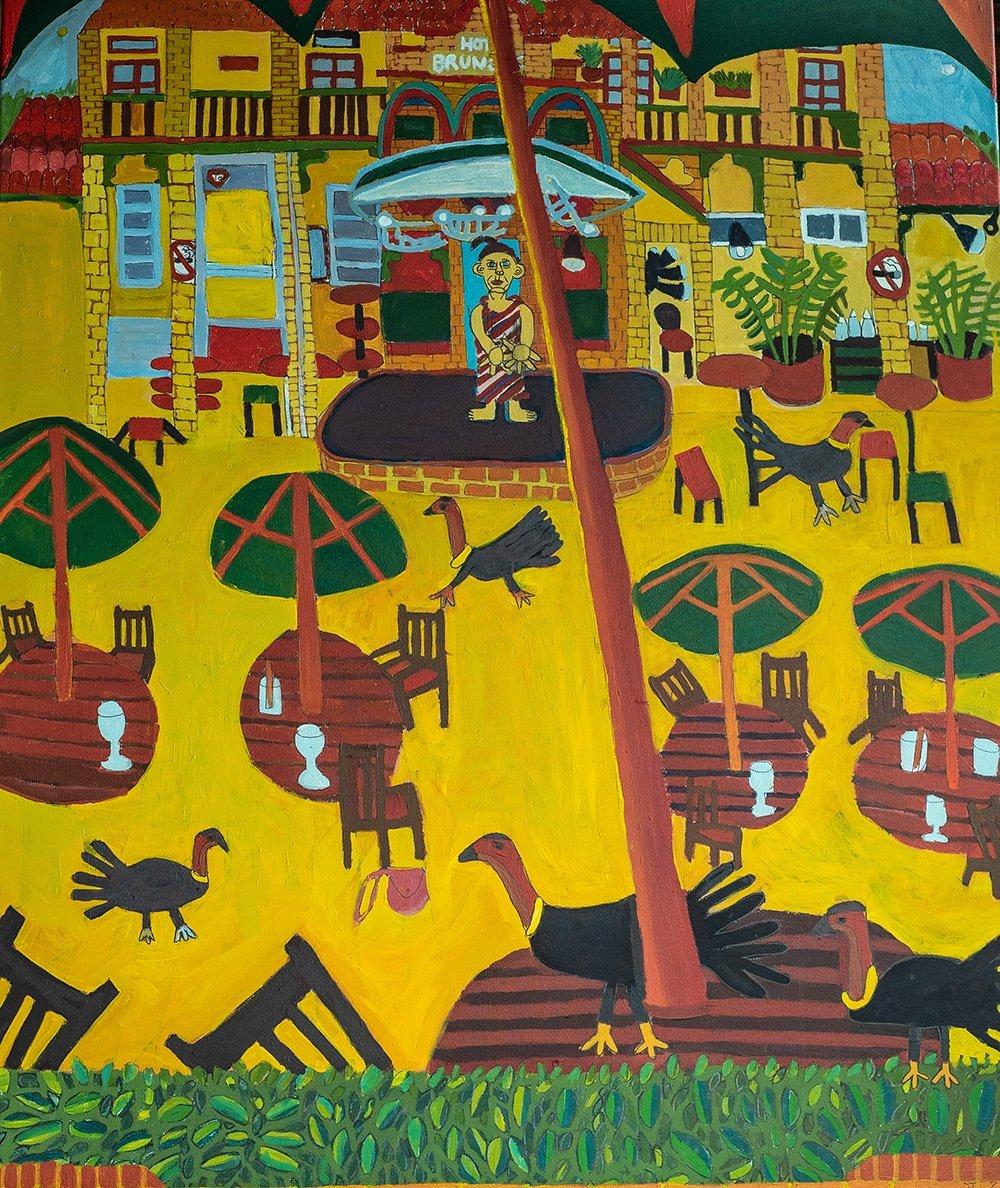 Brunswick Hotel Acrylic on Canvas Zion Levy Stewart