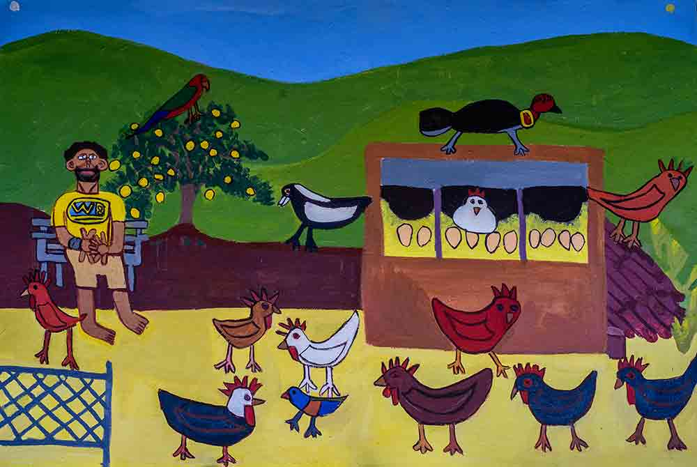 Crowded Chook House Zion Levy Stewart Artist