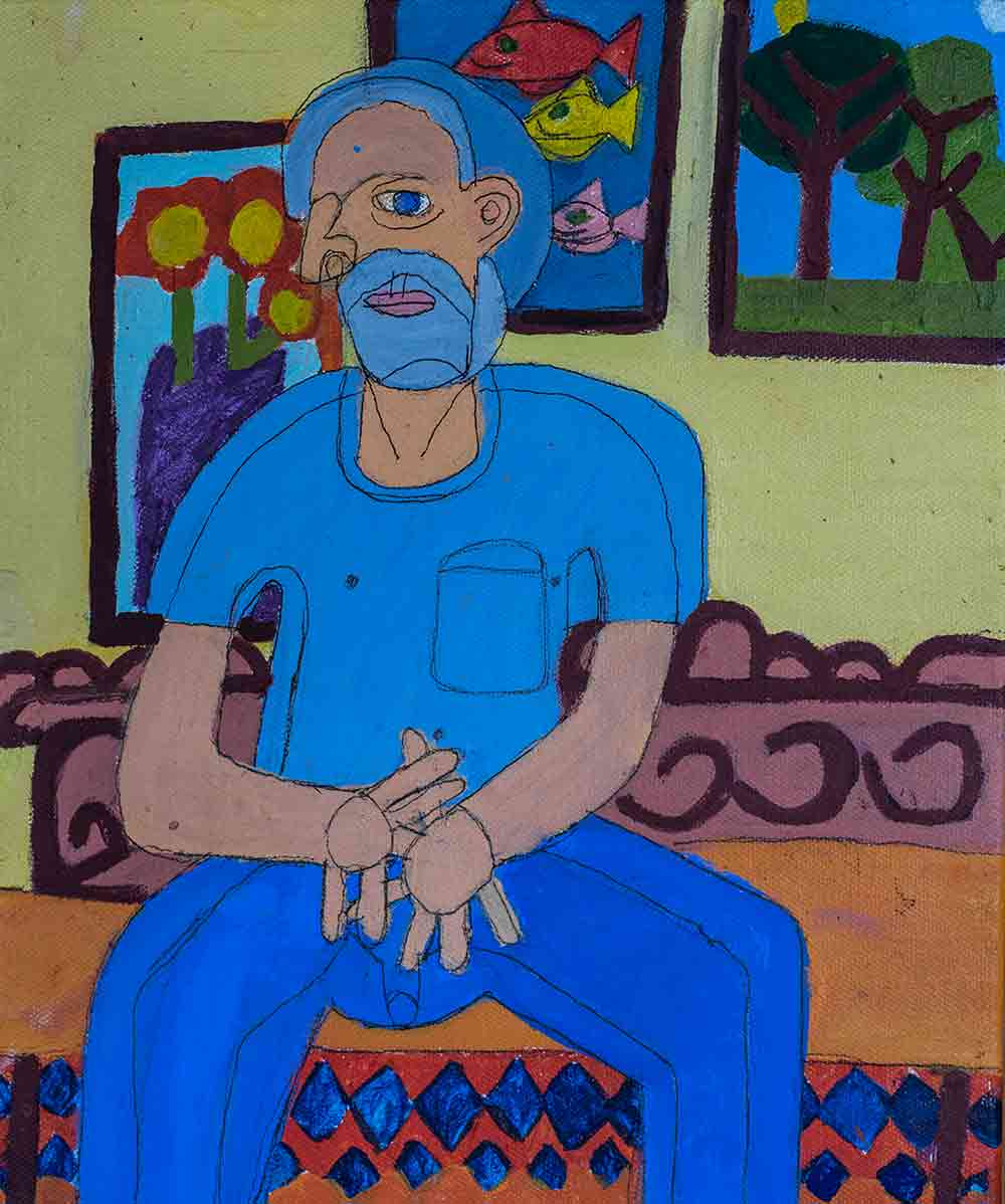 Paul Portrait Acrylic on Canvas Zion Levy Stewart