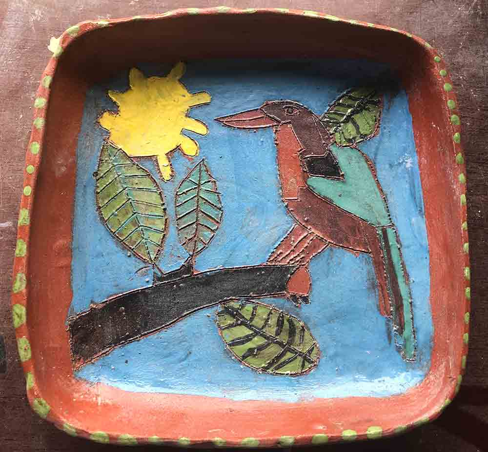 Kingfisher Ceramic Plate Zion Levy Stewart