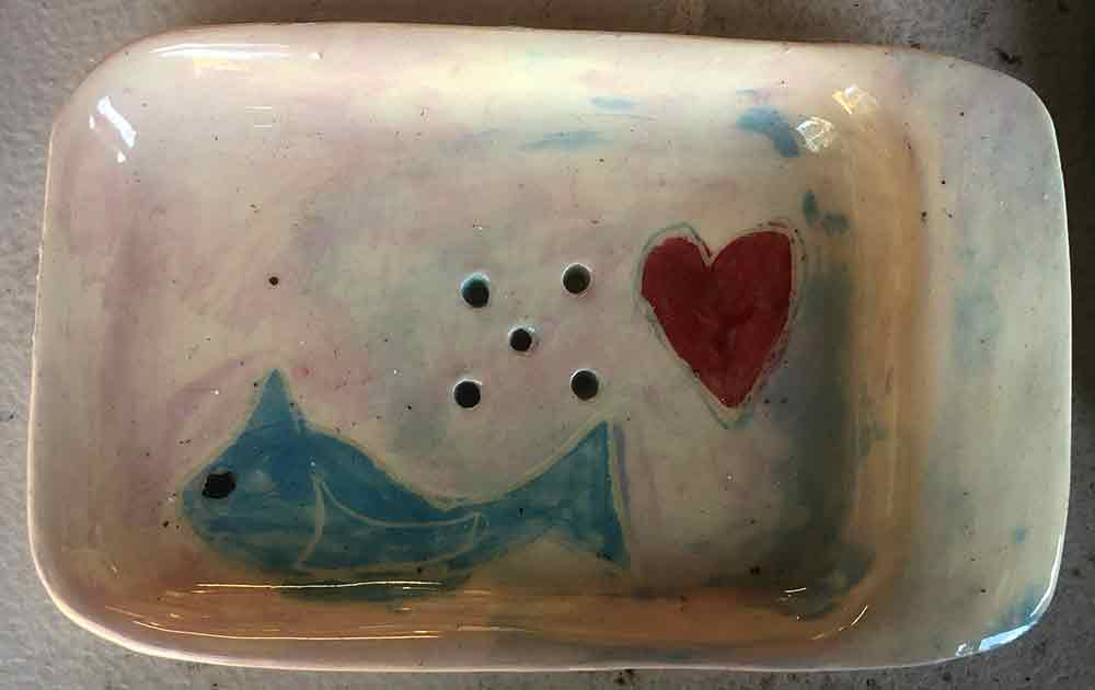 Fish Soap Dish by Zion Levy Stewart at Paradise Studio Mullumbimby New South Wales Australia